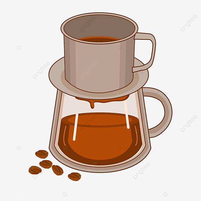 brown grey vietnamese drip coffee
