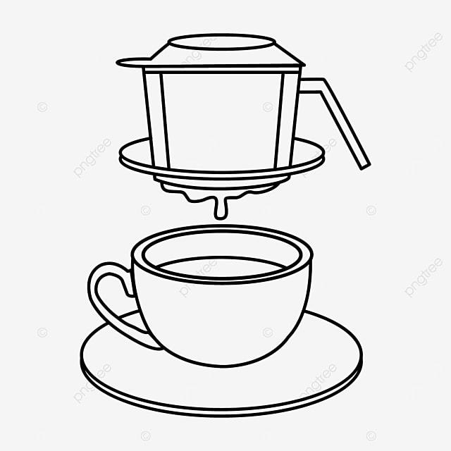 line draft of vietnam drip coffee production