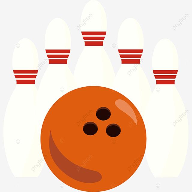 orange yellow bowling ball clip art