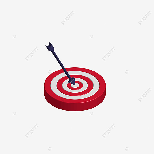 red plastic texture three dimensional target archery clipart