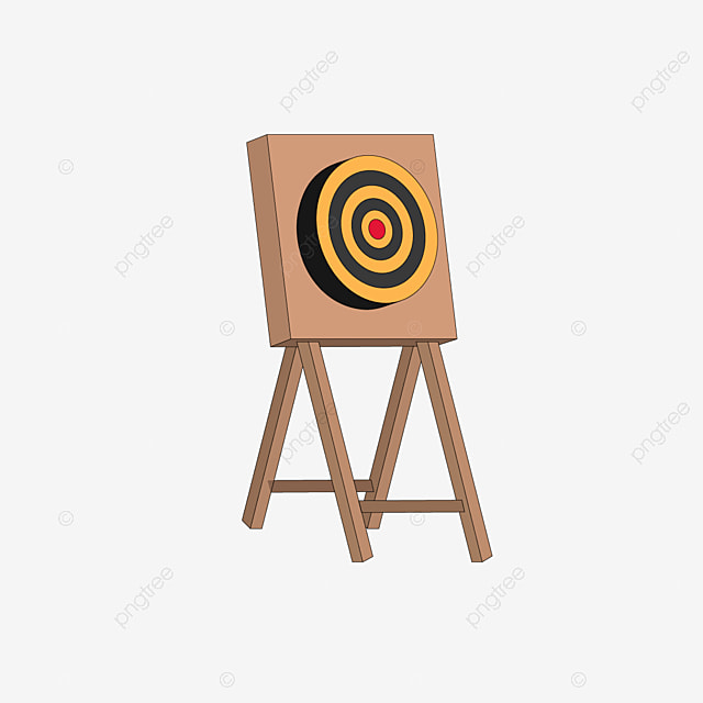 target archery with black and yellow brackets clipart