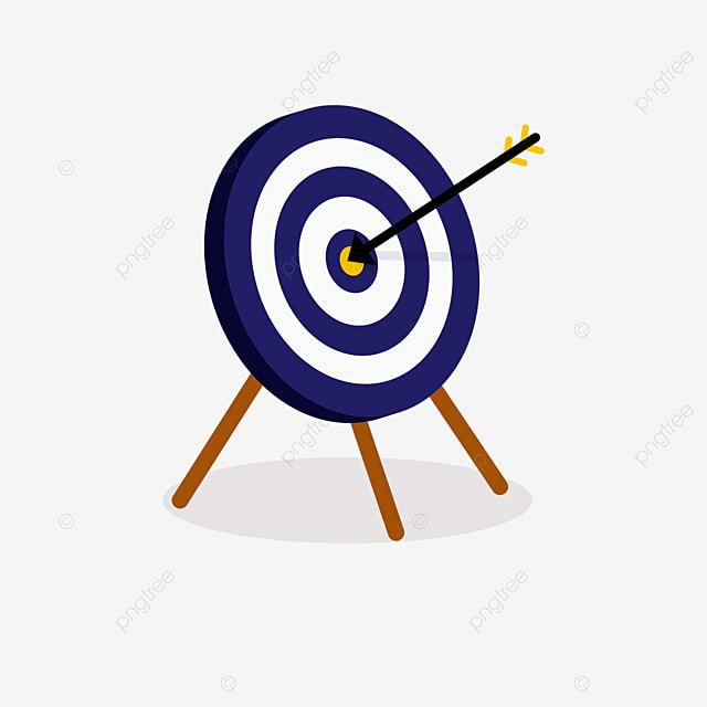 three dimensional archery supported by blue and white 3 feet clipart