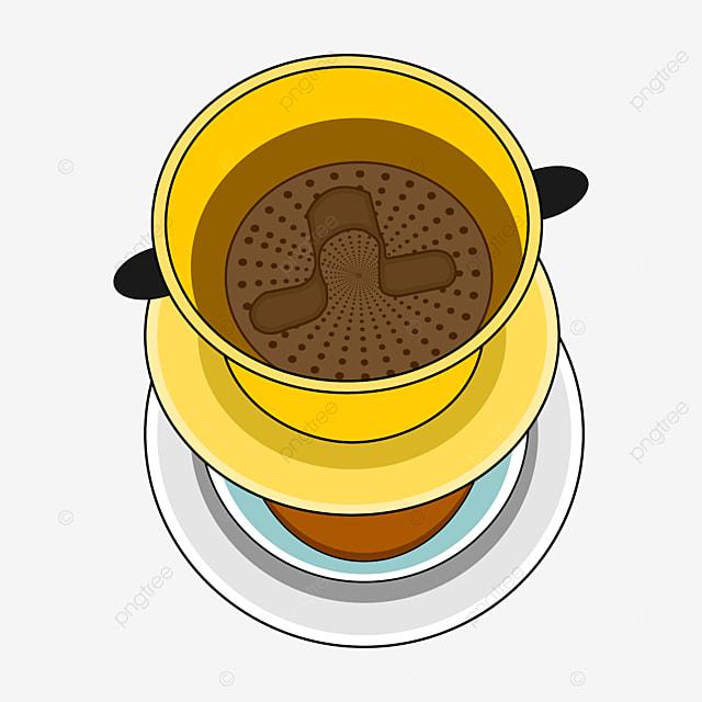 top view of vietnamese drip coffee