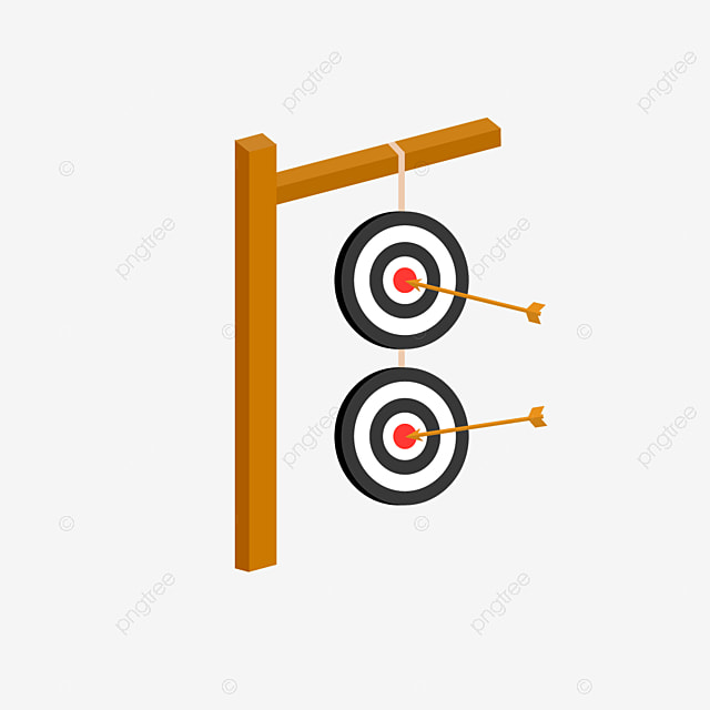 two dangling archery targets for archery clipart