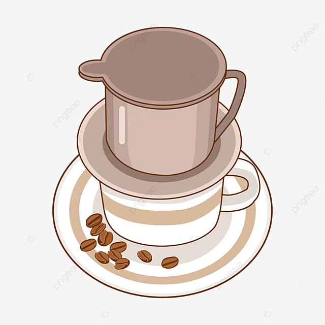 vietnamese drip coffee and coffee cup