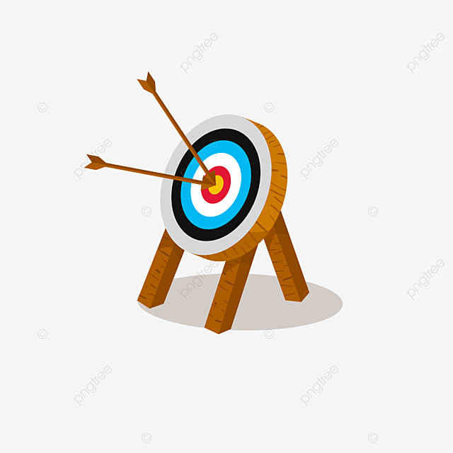 archery with triangular wood supported target clip art