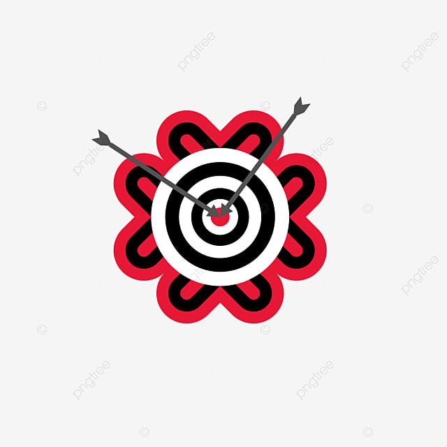flower shaped target archery clip art