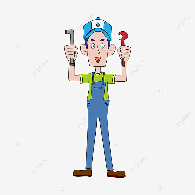 hand holding tool plumber clipart