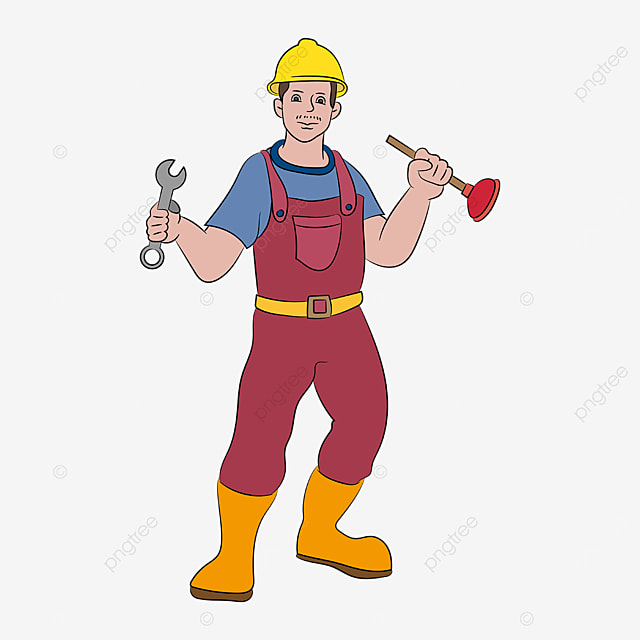 hard hat plumber clip art