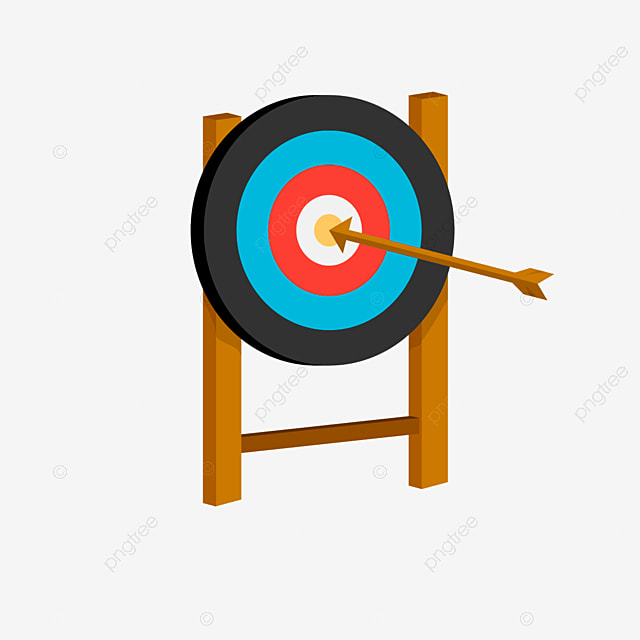 multi colored ring of target archery clipart
