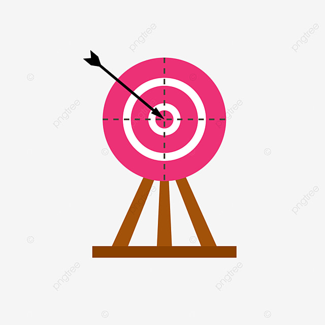 pink archery with dotted line clipart