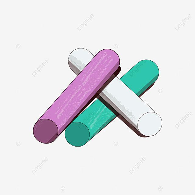 pink green white chalk clipart
