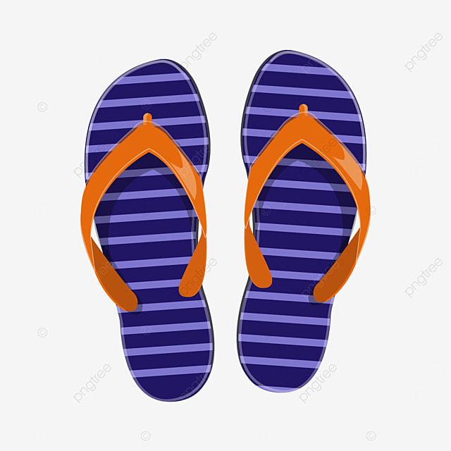 plastic striped bottom flip flops clipart