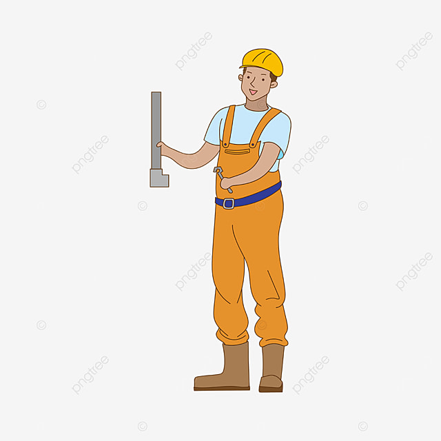 plumber in overalls clipart