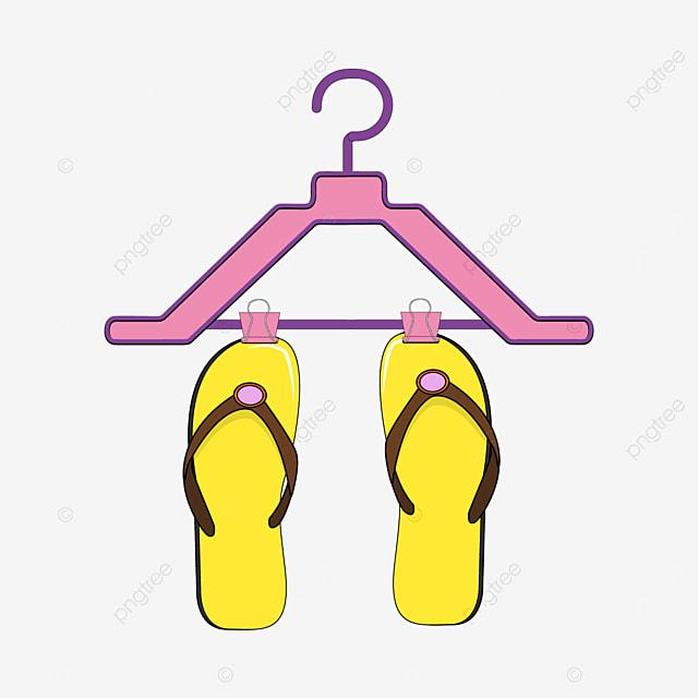 yellow bottom with hanger flip flops clipart