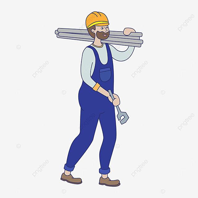 yellow hard hat plumber clipart
