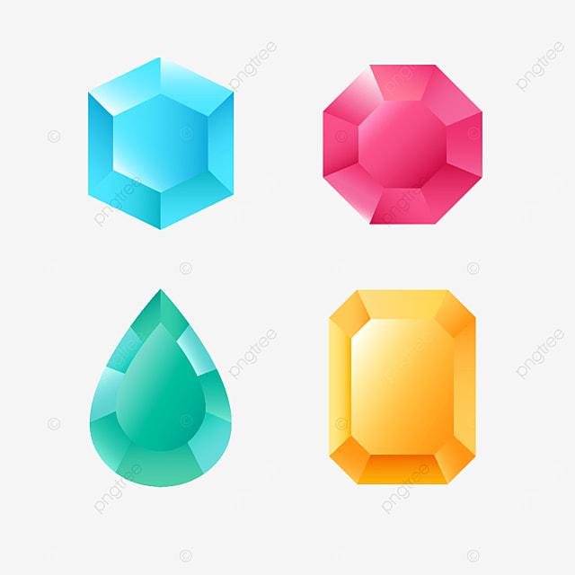 candy color gems clip art