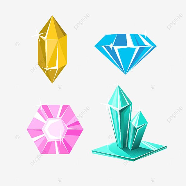 cartoon crystal gem clipart