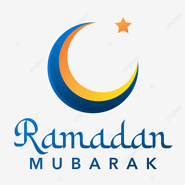 Simple Ramadan Mubarak With Moon And Star Mubarak Ramadan Islamic Png And Vector With Transparent Background For Free Download
