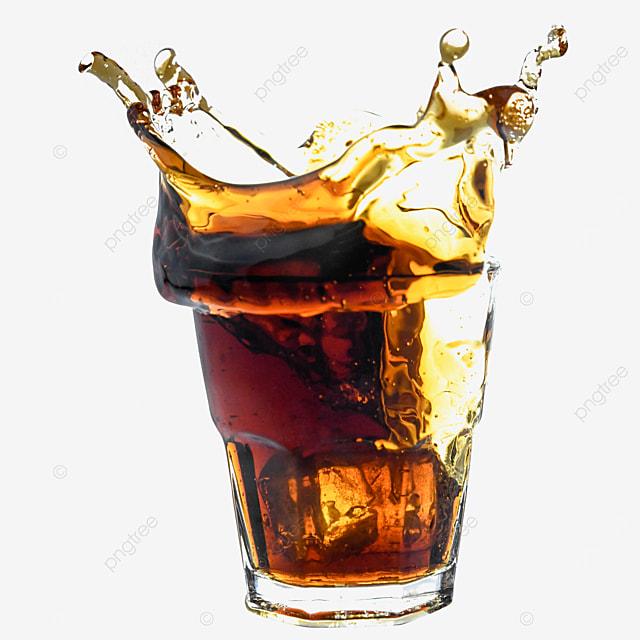 beverage glass brown cola