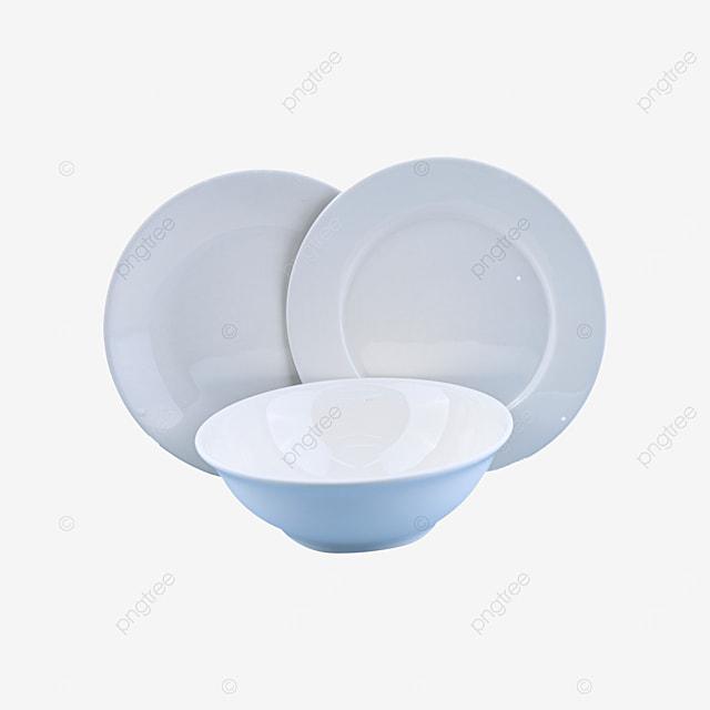 blank and fragile circular ceramic tableware