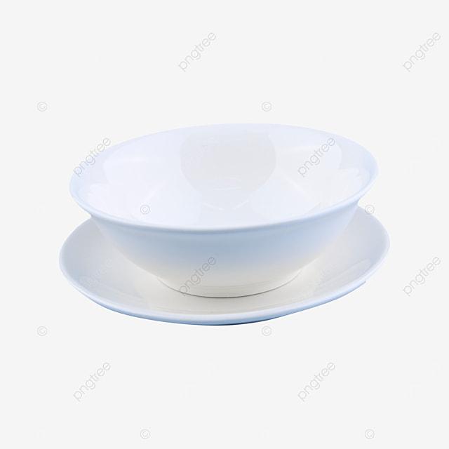 blank clean circular tableware