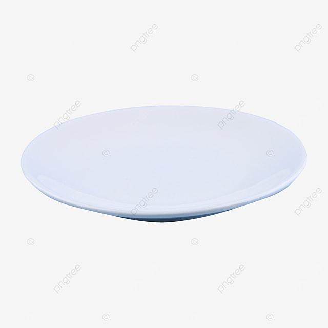 blank clean circular tray
