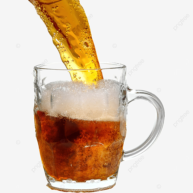 brown beer drink glass