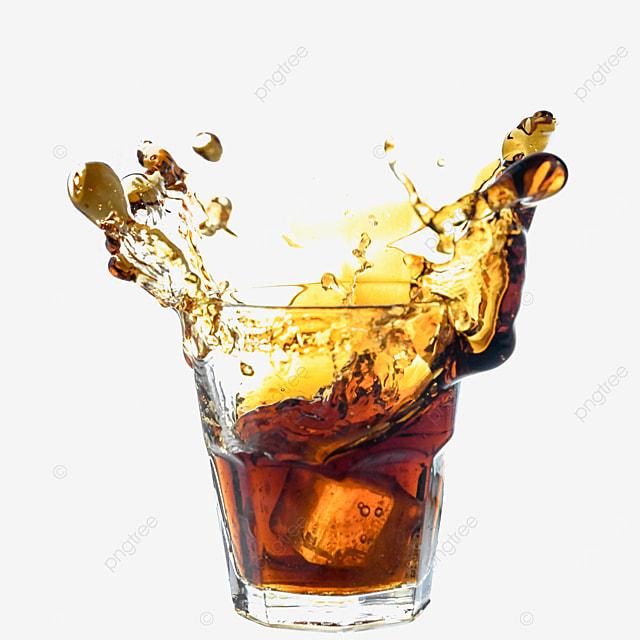 brown coke beverage glass
