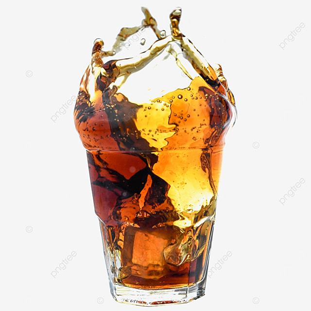 brown coke glass drink