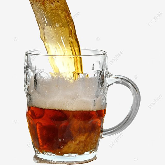 brown drink glass beer