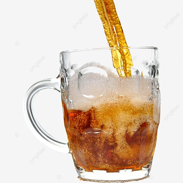 brown glass beer drink