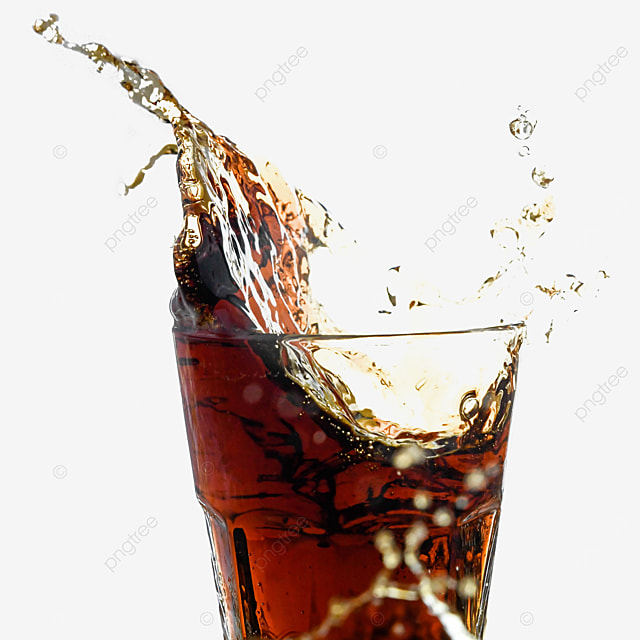 brown glass cola drink