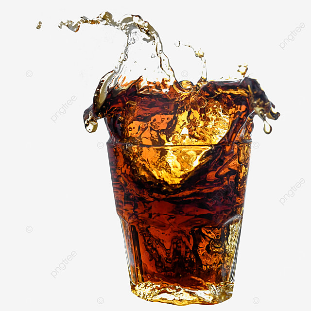 brown glass drink cola