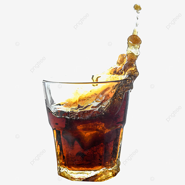 coke drink brown glass