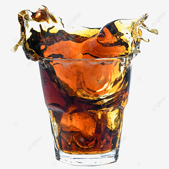 cola beverage glass brown