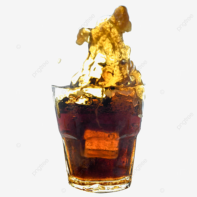 cola brown drink glass