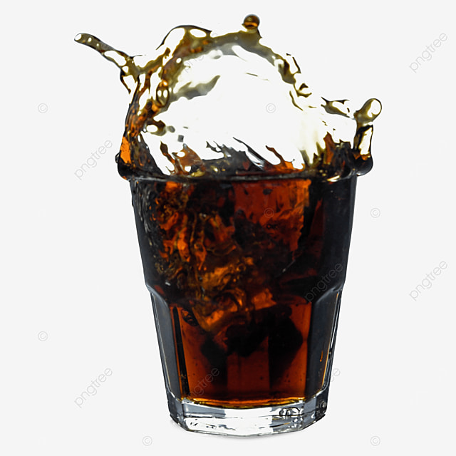 drink brown cola glass