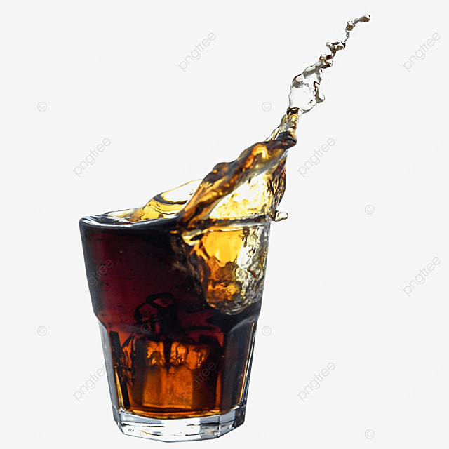 drink brown glass cup