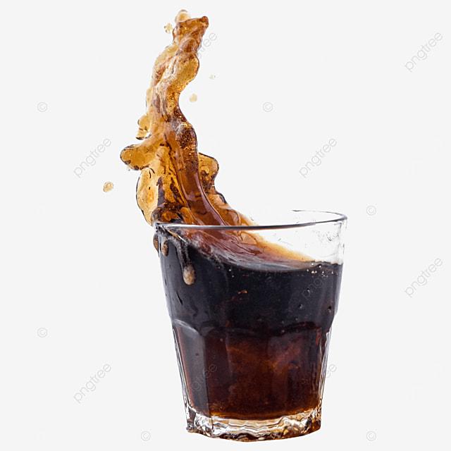 drink coke glass brown