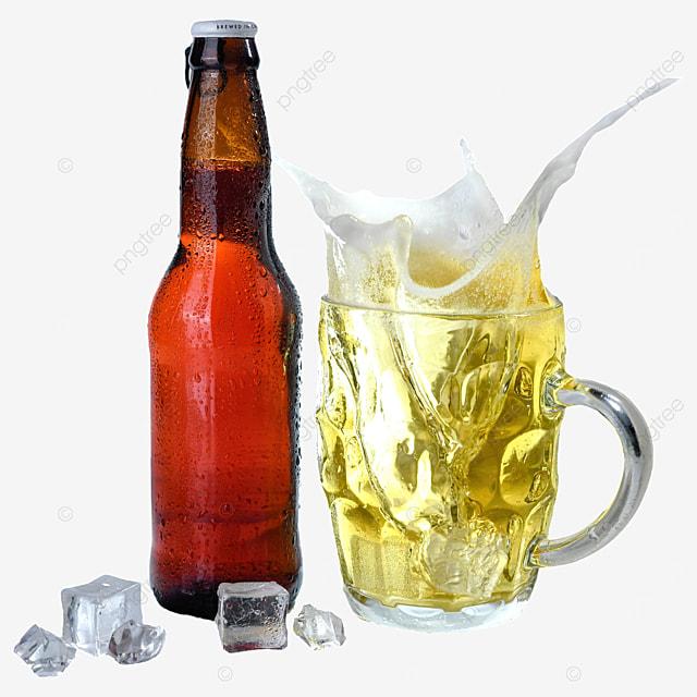 glass beer bottle beer drink
