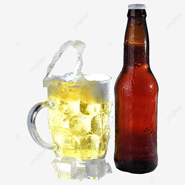 glass beer bottle drink beer