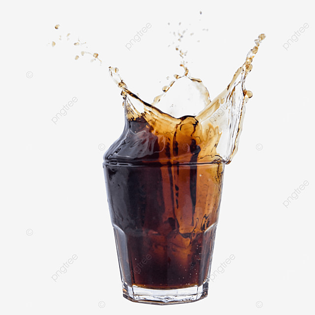 glass cup brown carbonated drink cola