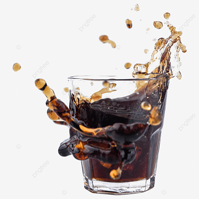 glass cup brown cola carbonated drink