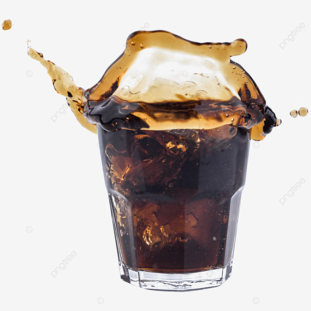 glass cup coke brown carbonated drink
