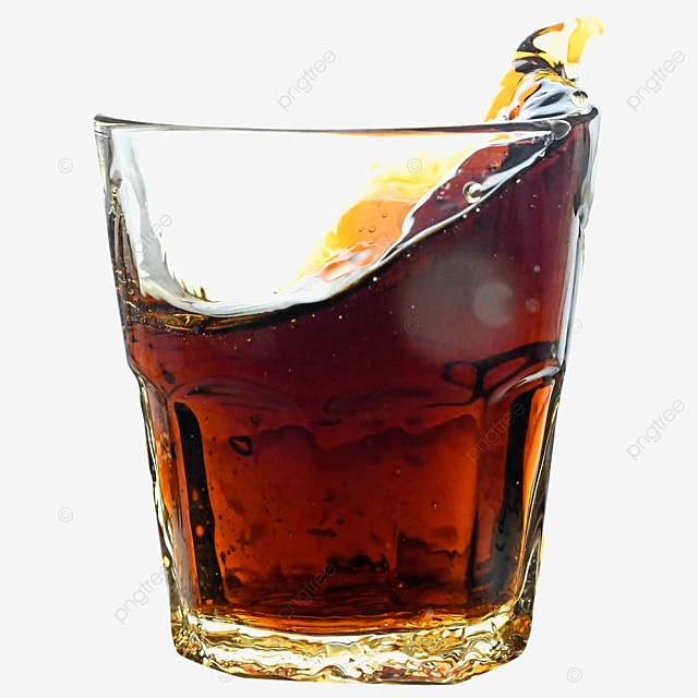 glass cup coke drink brown