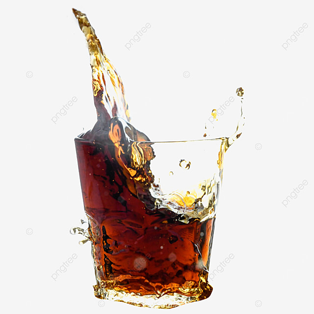 glass cup of drink brown cola