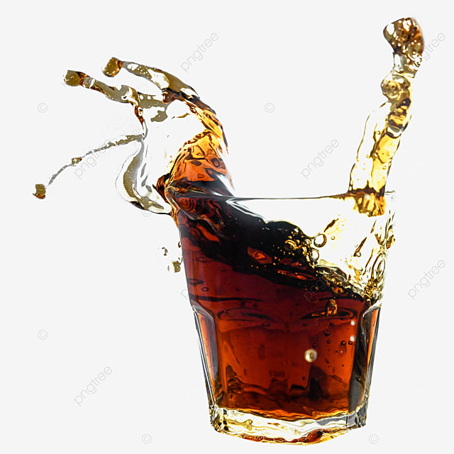 glass drink cola brown