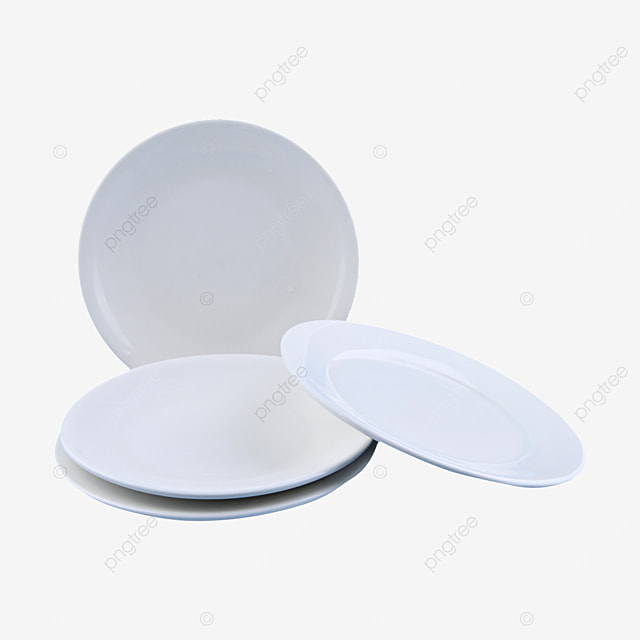 three blank and fragile round tableware