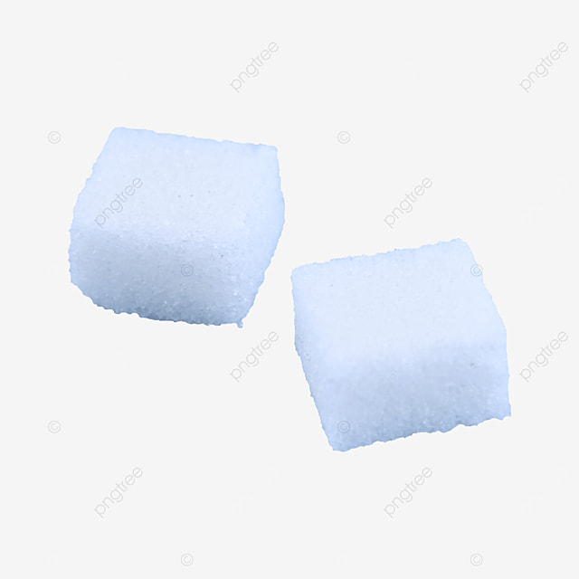 two sugar cubes placed